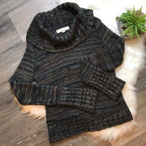 Loft Chunky Knit Wool Blend Cowl Neck Sweater